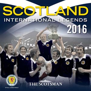 Scotland International Football Legends Official Calendar 2016