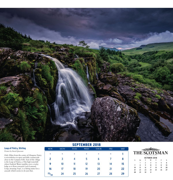 The Scotsman Wall Calendar   Great Northern Books