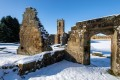 Mount Grace Priory in the snow.11th January 2021.  Picture Bruce Rollinson